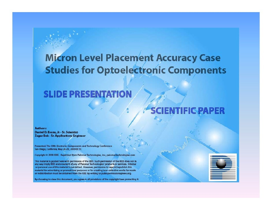 •   Terms  •   Material & Process Considerations  •   High Accuracy Case Studies  •   Systems  •   Case Study 1: Multi-cha...