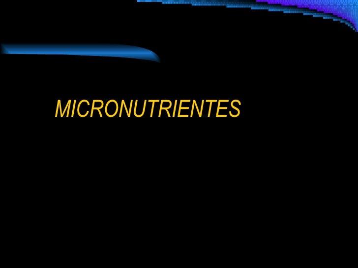 Micronutrientes Set 2008