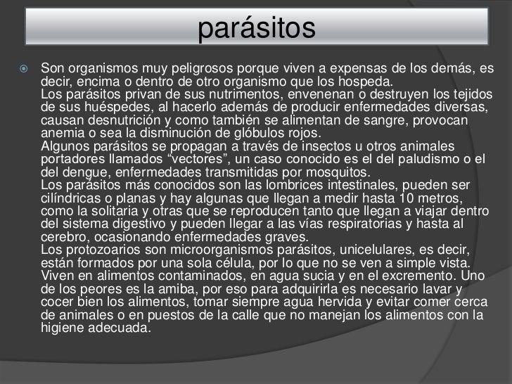 Los sistemas de la depuración del organismo de los parásitos