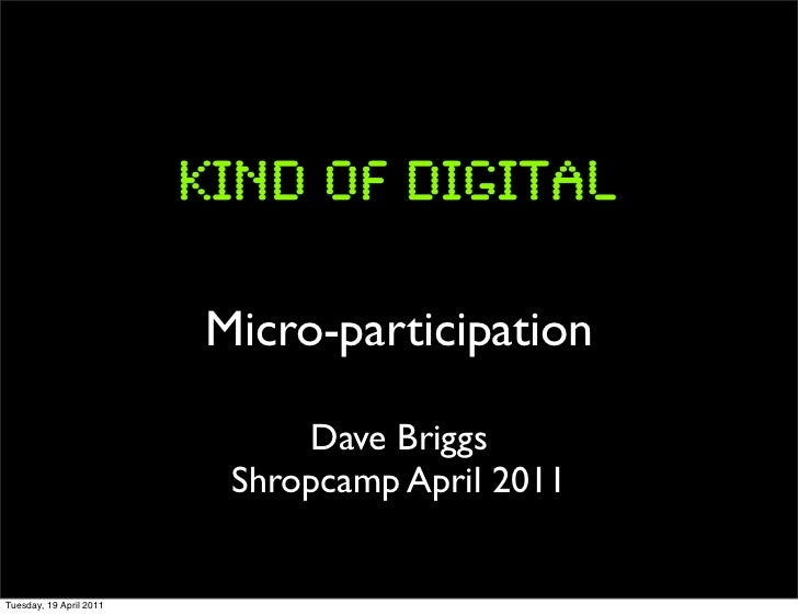 Micro-participation