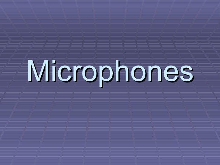 Microphones basics-g