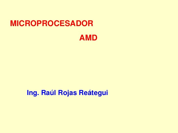 Microprocesadores amd