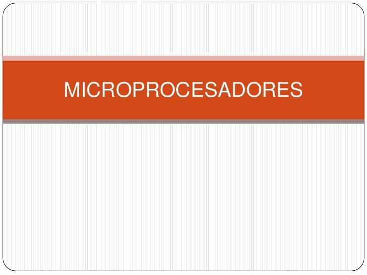 Microprocesadores intel vs amd