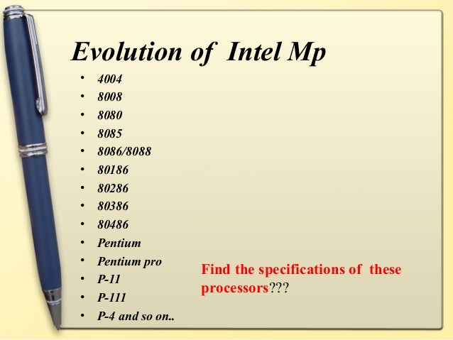 evolution of microprocessor Microcontrollers a brief history of microprocessors the first microprocessor was developed by what was then a small company called intel (short for integrated electronics) in the early 1970s.