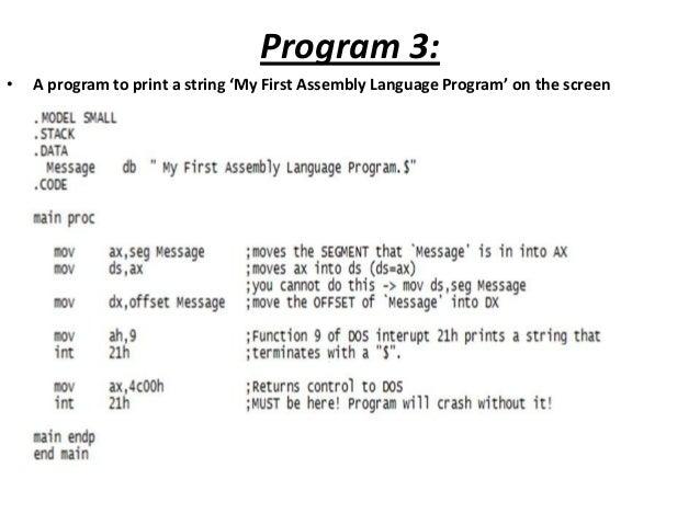 8086 Assembly Language - Help writing a program