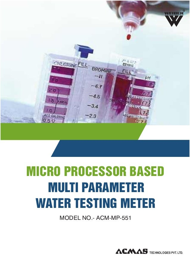 R  MICRO PROCESSOR BASED MULTI PARAMETER WATER TESTING METER MODEL NO.- ACM-MP-551  TECHNOLOGIES PVT. LTD.