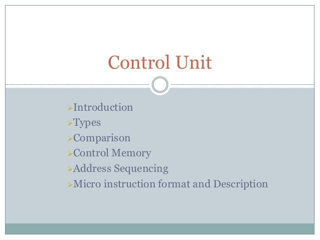 Micro Programmed Control Unit