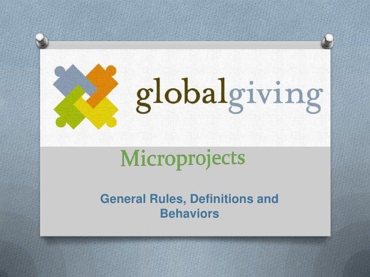 Microprojects Webinar