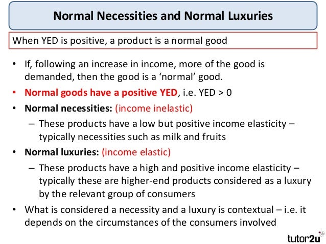 Products whose demand is price elastic