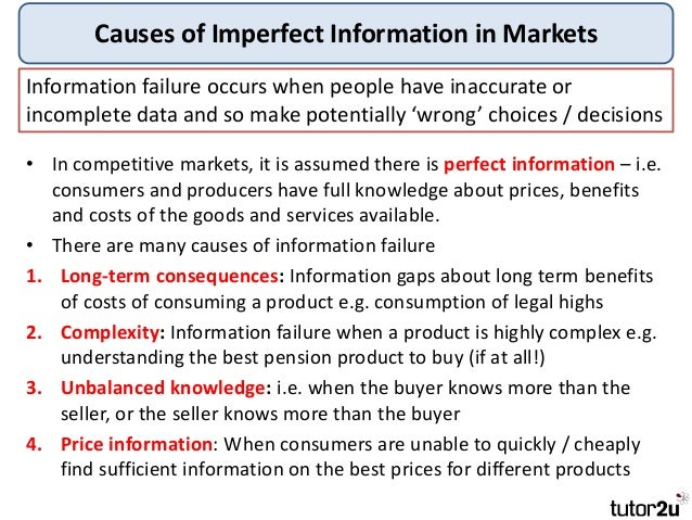 external cost of producing tobacco products and imperfect information as a cause of market failure o