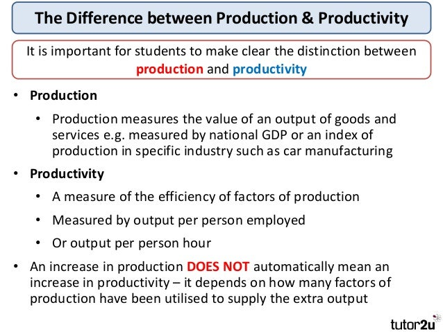 characteristics of factors or production