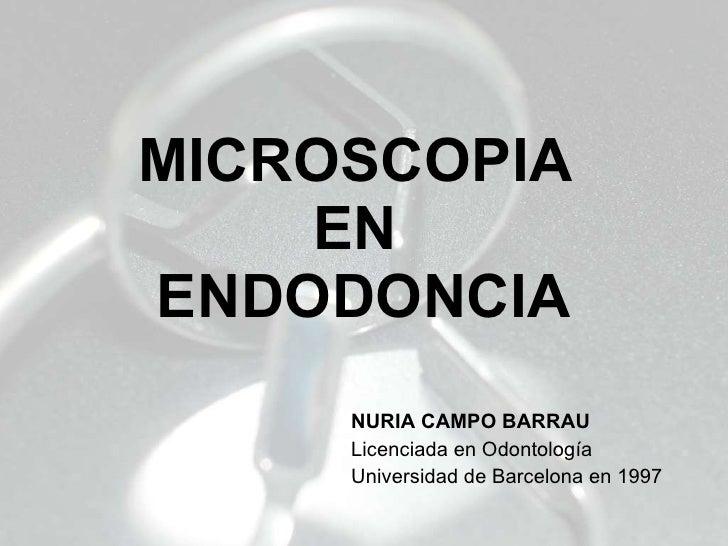 Microscopia en Endodoncia