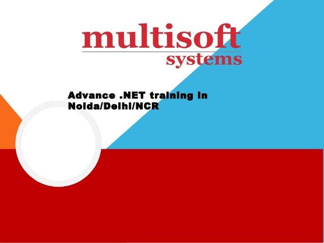 Advance .net training in noida/NCR