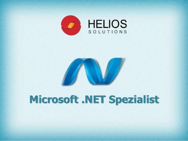Microsoft .NET Spezialist