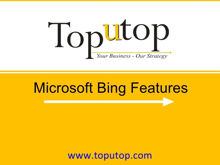 Microsoft Bing Features