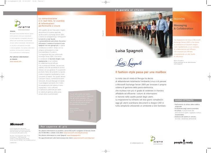 Microsoft - Caso Di Successo Luisa Spagnoli Spa