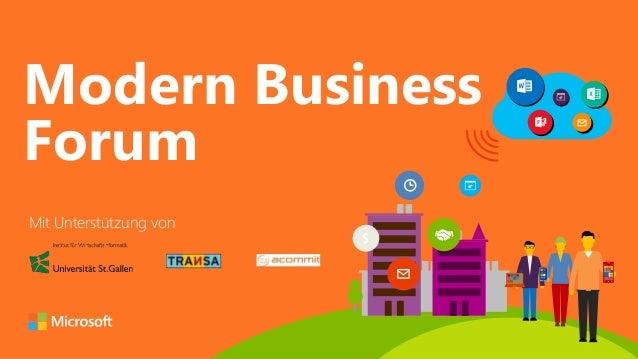 #  Modern Business  Forum  $  Mit Unterstützung von