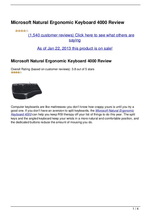 Can You Install A Microsoft Natural Ergonomic Keyboard