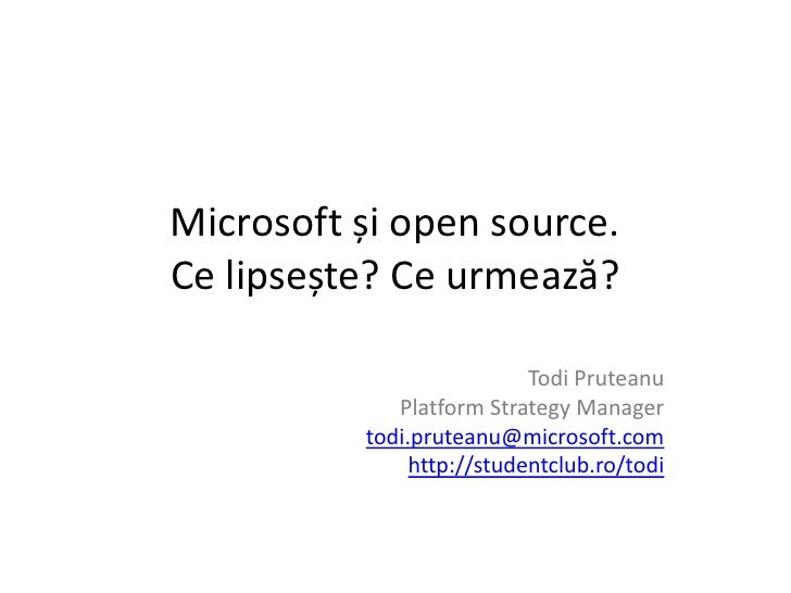 Microsoft++ +open+source+-+27mai2010