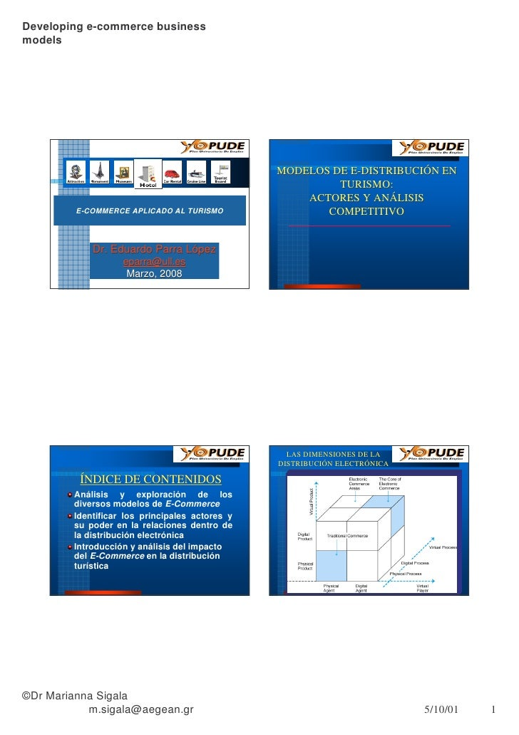 Developing e-commerce business models                                                     MODELOS DE E-DISTRIBUCIÓN EN    ...