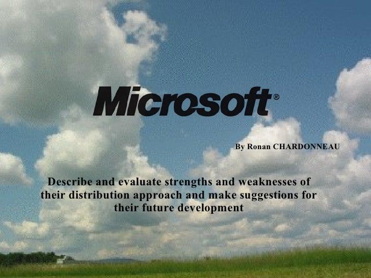 Microsoft Distribution Channels Presentation