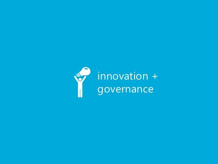 innovation +governance