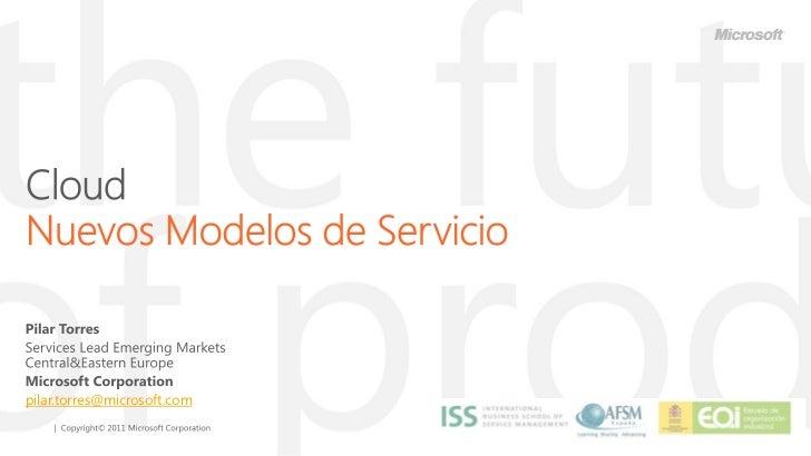 Cloud. Nuevos modelos de servicios