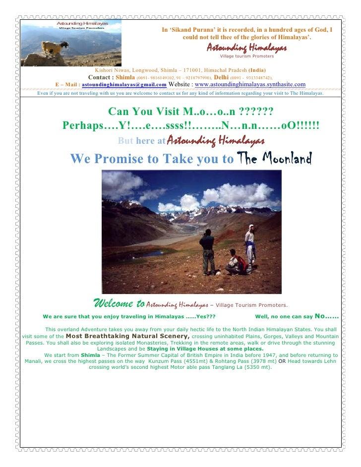 Microsoft Word   Astounding Himalayas Jeep Saf