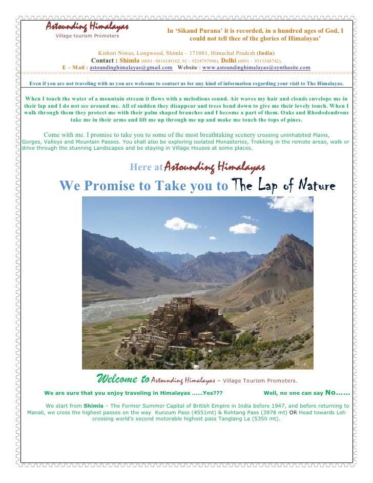 Microsoft Word   Astounding Himalayas Trek