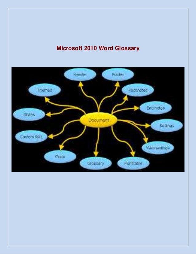 Microsoft 2010 Word Glossary