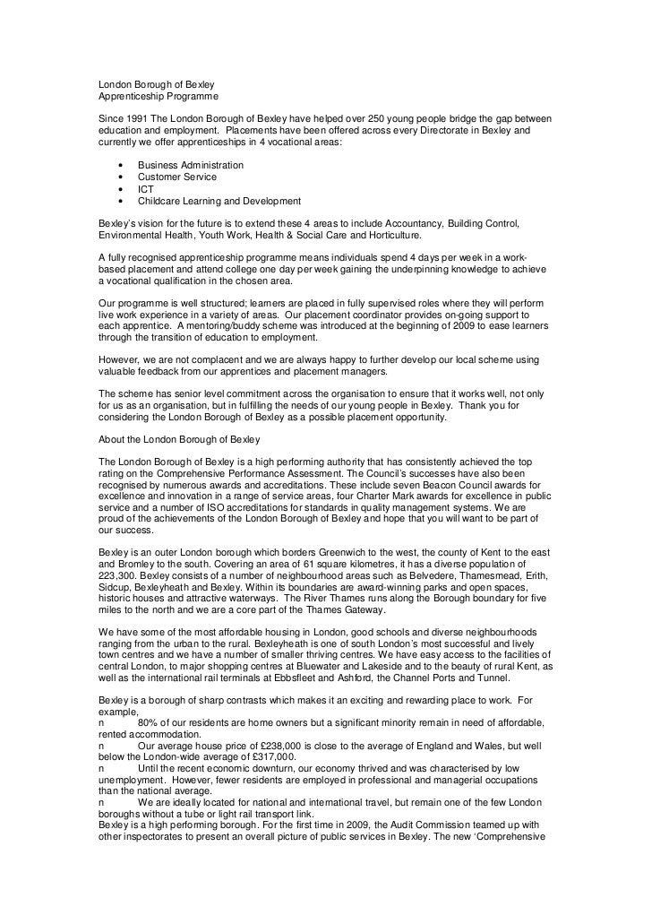 Apprenticeship Infomation