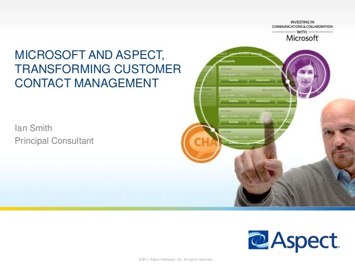 Microsoft and aspect, transforming customer contact management