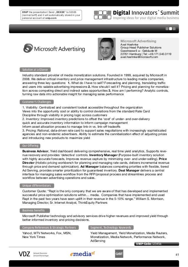 Microsoft Publisher Solutions - product portfolio