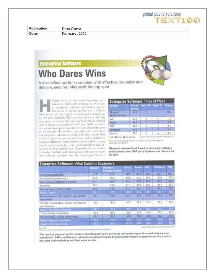 Publication:Data QuestDate:February , 2011<br />