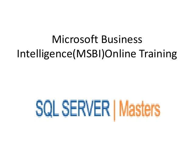 Microsoft business intelligence(msbi)online training