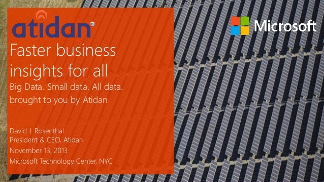Microsoft Cloud OS - Unlock Data Insights Presented by Atidan