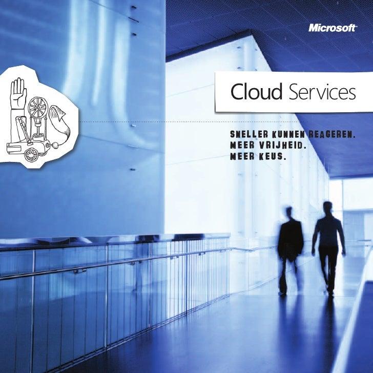 Microsoft Cloud Services brochure   nl versie - juni 2010