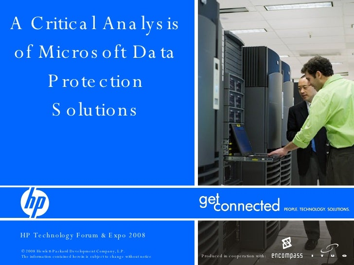 A Critical Analysis of Microsoft Data Protection Solutions