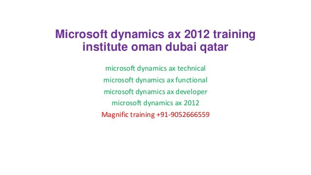 Microsoft dynamics ax 2012 training institute oman dubai