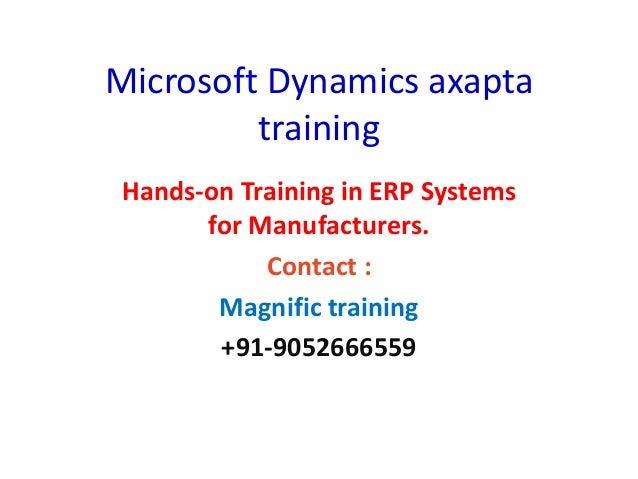 Microsoft dynamics axapta training