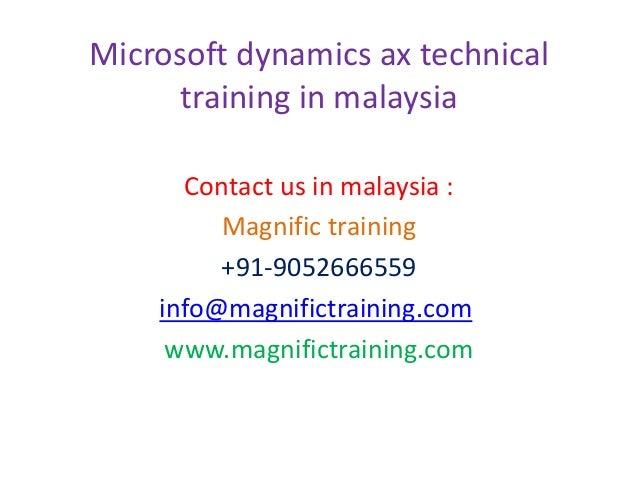 Microsoft dynamics ax technical training in malaysia