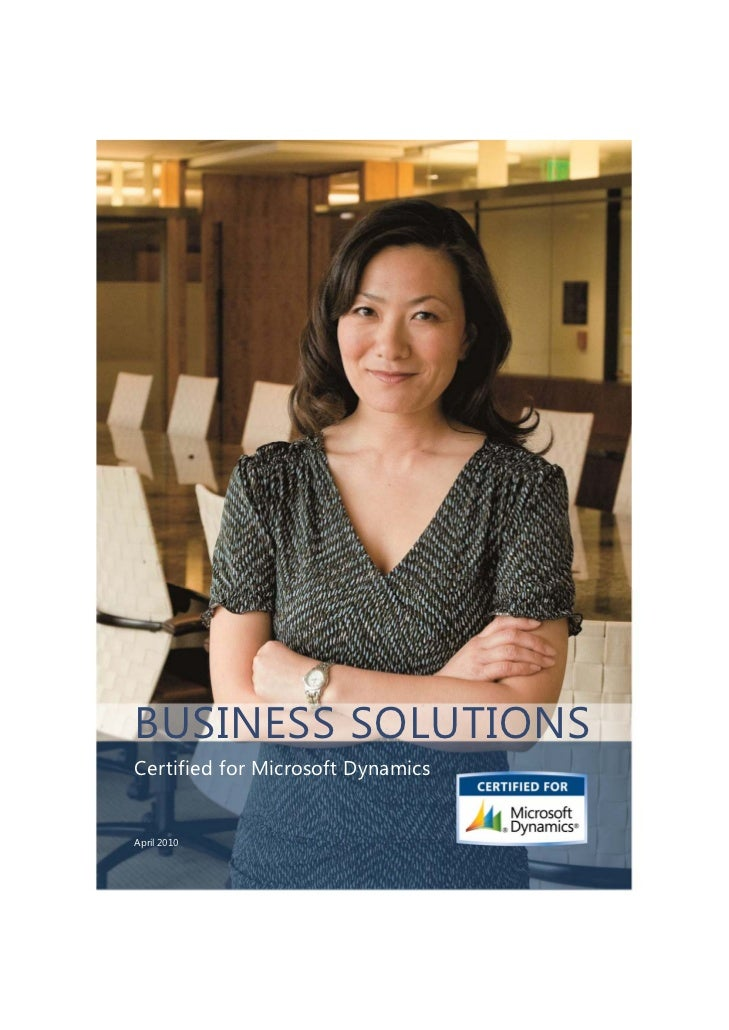Microsoft Dynamics Business Solutions Catalog