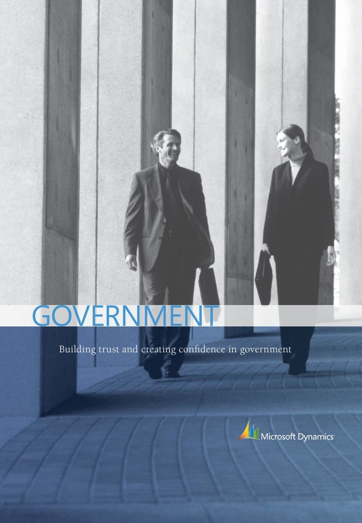 GOVERNMENT  Building trust and creating confidence in government