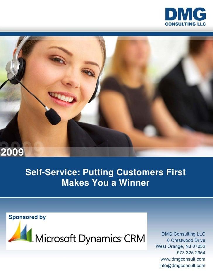 Microsoft Dynamics CRM - Self Service Whitepaper