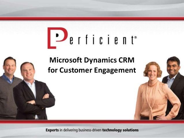 Microsoft Dynamics CRM for Customer Engagement