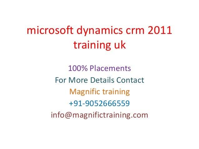 Microsoft dynamics crm 2011 training uk