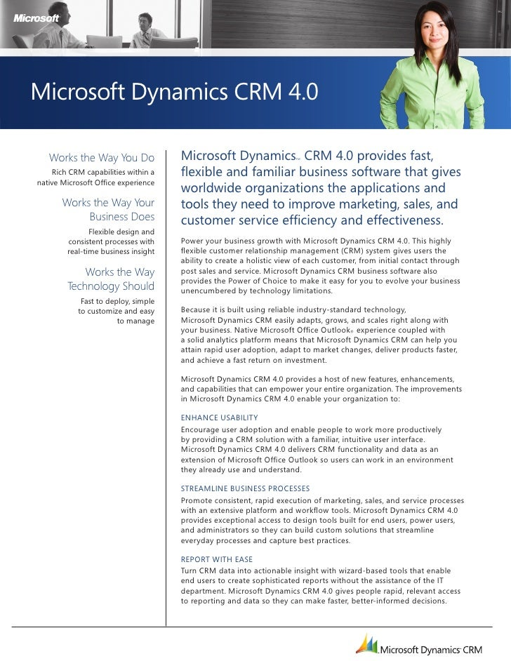 Microsoft dynamics crm_4.0_whats_new_datasheet