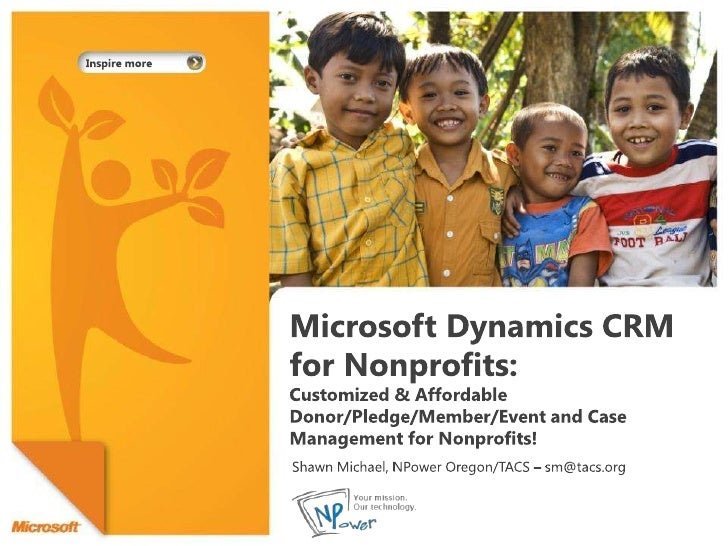 Microsoft Dynamics CRM for Nonprofits: Customized & Affordable Donor/Pledge/Member/Event and Case Management for Nonprofit...