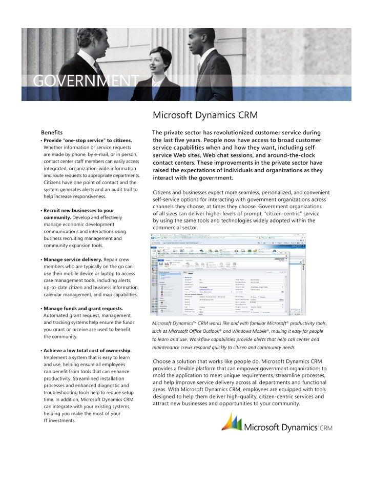 Microsoft Dynamics CRM-Government