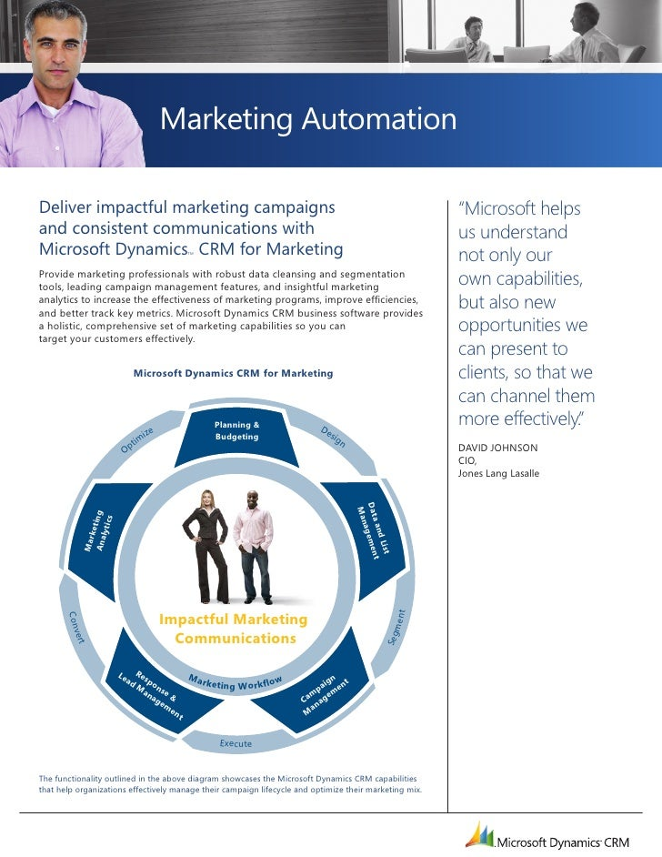 Marketing Automation        Deliver impactful marketing campaigns                                                         ...